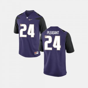 #24 Purple College Football Kamari Pleasant Washington Jersey For Men's