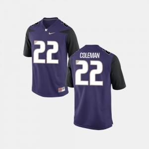 Lavon Coleman Washington Jersey Mens College Football #22 Purple