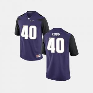 Men Purple Ralph Kinne Washington Jersey College Football #40