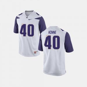 White Mens #40 College Football Ralph Kinne Washington Jersey