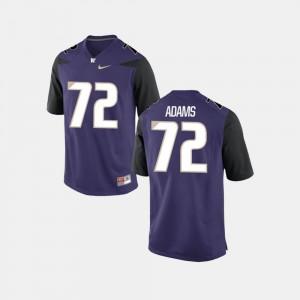 Purple Trey Adams Washington Jersey College Football #72 For Men's