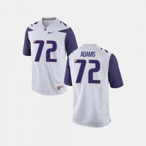 #72 For Men White College Football Trey Adams Washington Jersey