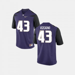 Purple #43 College Football For Men's Tristan Vizcaino Washington Jersey