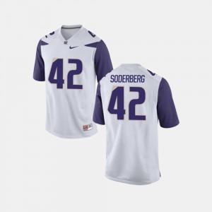 Van Soderberg Washington Jersey College Football #42 White Mens