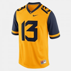 College Football Andrew Buie WVU Jersey Gold Mens #13