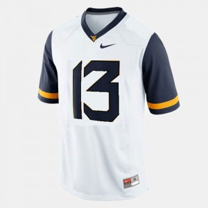 Andrew Buie WVU Jersey #13 Men's White College Football