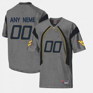 College Limited Football For Men's #00 Gray WVU Custom Jerseys