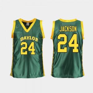 Women Green Replica #24 College Basketball Chloe Jackson Baylor Jersey