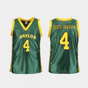 Replica Honesty Scott-Grayson Baylor Jersey #4 For Women's College Basketball Green