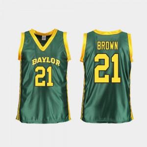 #21 Green College Basketball Kalani Brown Baylor Jersey Women's Replica