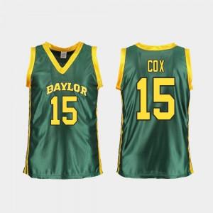 Green College Basketball Womens Lauren Cox Baylor Jersey Replica #15