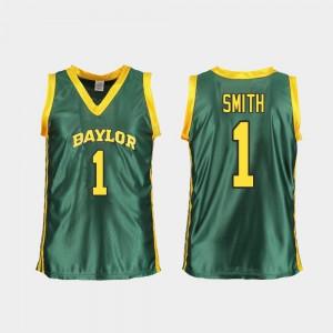 #1 For Women's Green NaLyssa Smith Baylor Jersey College Basketball Replica