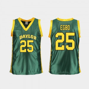 College Basketball #25 For Women's Queen Egbo Baylor Jersey Replica Green