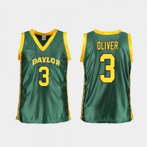 College Basketball Green Trinity Oliver Baylor Jersey Replica #3 Ladies