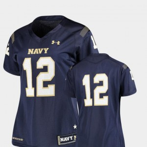 Finished Replica #12 Navy Womens Navy Jersey College Football