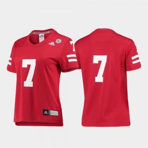 College Football Women's Scarlet #7 Replica Nebraska Jersey