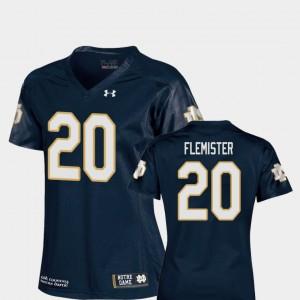 #20 Replica C'Bo Flemister Notre Dame Jersey Navy College Football Ladies
