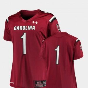 College Football Finished Replica For Women's South Carolina Jersey Garnet #1