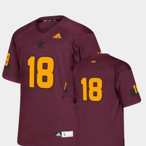 Replica Maroon ASU Jersey #18 College Football Youth