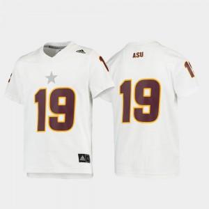 #19 Kids White Football ASU Jersey Replica