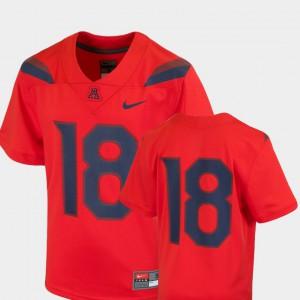 Arizona Jersey Red Team Replica #18 College Football For Kids