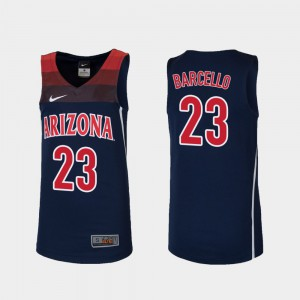 Navy Replica College Basketball Alex Barcello Arizona Jersey Youth(Kids) #23