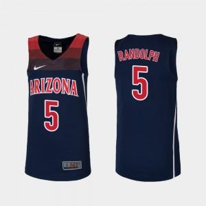 Brandon Randolph Arizona Jersey Youth College Basketball #5 Navy Replica