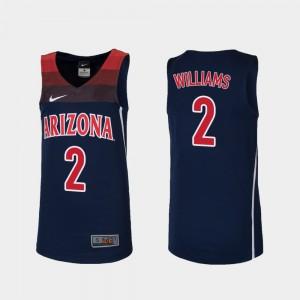 For Kids Navy Replica Brandon Williams Arizona Jersey #2 College Basketball