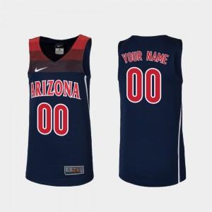 College Basketball #00 Kids Replica Arizona Customized Jerseys Navy