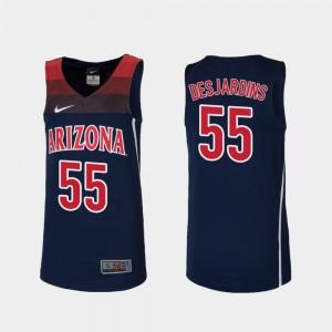 Navy #55 College Basketball Replica Jake DesJardins Arizona Jersey For Kids