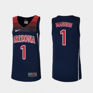 Navy College Basketball For Kids Nico Mannion Arizona Jersey Replica #1