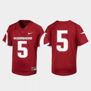 Untouchable Arkansas Jersey Football Youth #5 Cardinal