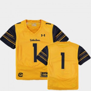 Gold #1 College Football Cal Bears Jersey Youth Finished Replica