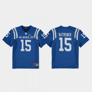 2018 Independence Bowl Kids Chris Katrenick Duke Jersey Royal College Football Game #15