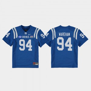 Royal College Football Game 2018 Independence Bowl Collin Wareham Duke Jersey Youth(Kids) #94