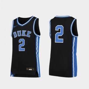 Replica Duke Jersey #2 Youth(Kids) Black Basketball