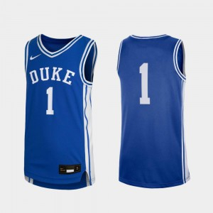 #1 Duke Jersey Royal Kids Replica College Basketball