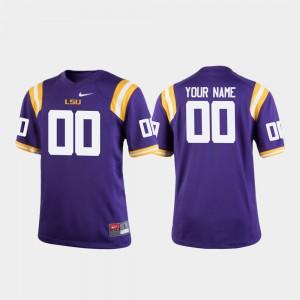 LSU Customized Jerseys Youth College Football #00 Purple