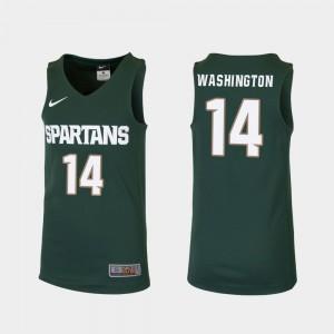 Replica #14 Green Brock Washington MSU Jersey College Basketball Youth(Kids)