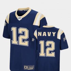 Foos-Ball Football Navy Colosseum Youth(Kids) #12 Navy Jersey