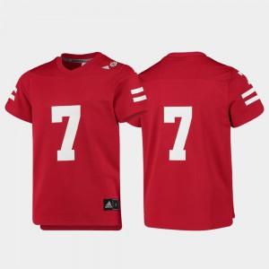 Replica College Football Scarlet Nebraska Jersey #7 Youth