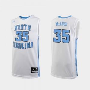 College Basketball White Replica #35 Ryan McAdoo UNC Jersey Kids
