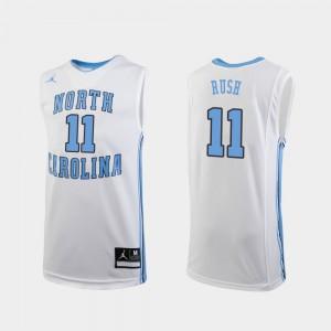 Shea Rush UNC Jersey Replica College Basketball #11 Youth(Kids) White