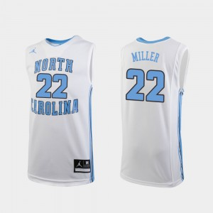 Replica White Walker Miller UNC Jersey College Basketball #22 Kids