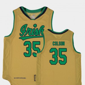 College Basketball Special Games Gold Bonzie Colson Notre Dame Jersey For Kids Replica #35