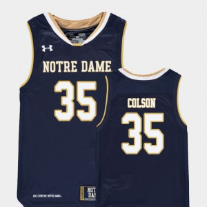 Bonzie Colson Notre Dame Jersey Youth Replica Navy #35 College Basketball