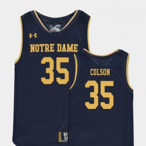 Navy For Kids Bonzie Colson Notre Dame Jersey College Basketball Special Games #35 Replica