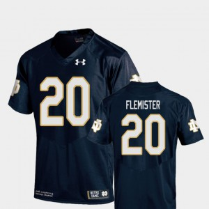 College Football Navy #20 C'Bo Flemister Notre Dame Jersey Kids Replica