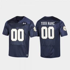 Replica Navy #00 Notre Dame Custom Jerseys Football For Kids