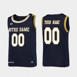 Replica #00 Kids College Basketball Navy Notre Dame Customized Jerseys
